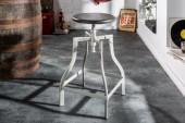 Barhocker Iron Craft 60-74cm grau Mango/ 39456