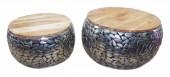 Couchtisch Stone Mosaic 2er Set silber Mango/ 39519
