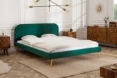 Bett Famous 160x200cm smaragdgrün Samt gold/ 39695