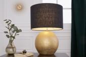Tischleuchte Elegancia 57cm schwarz gold/ 39643