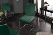 Freischwinger Suave smaragdgrün Samt/ 39415