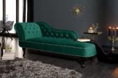 Recamiere Chesterfield smaragdgrün Samt/ 39429
