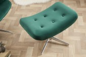 Drehhocker Lounger smaragdgrün Samt/ 39514