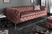 Sofa Modern Barock 240cm altrosa/ 38715