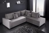 Eck-Schlafsofa Apartment grau Samt/ 39929