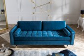 Sofa Cozy Velvet 225cm aquablue Samt/ 39844