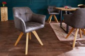 Stuhl Loft Armlehne antik grau/ 40023