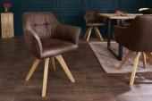 Stuhl Loft Armlehne antik braun/ 40024