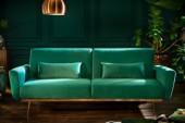 Schlafsofa Bellezza 208cm smaragdgrün Samt/ 39914