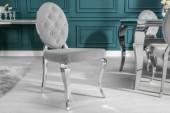 Stuhl Modern Barock edel-grau/ 38342