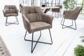 Stuhl Loft Armlehne taupe/ 39530