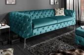 Sofa Modern Barock 240cm aqua/ 38716