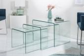Couchtisch Fantome 3er Set Glas/ 22864