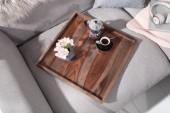 Tablett Makassar 50cm Sheesham smoke/ 40180