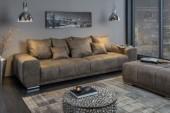 Sofa Elegancia 280cm taupe Mikrofaser/ 40033