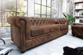 Sofa Chesterfield 3er braun Antik Look/ 17382