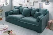 Sofa Heaven 210cm petrol Samt/ 40163