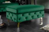 Hocker Modern Barock grün gold/ 39611