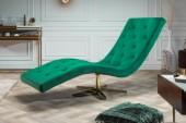 Liege Relaxo smaragdgrün Samt Sternfuß gold/ 40161