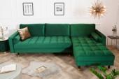 Ecksofa Cozy Velvet II 260cm smaragdgrün Samt/40274