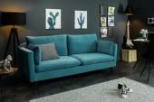 Sofa Famous II 210cm aqua Samt/ 40085