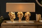 Tischleuchte Sculpture 80cm beige Akazie/ 40401