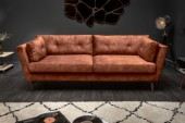 Sofa Marvelous 220cm antik rostbraun Samt/ 40081