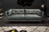 Sofa Marvelous 220cm dunkelgrün Samt/ 40324