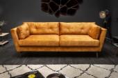 Sofa Marvelous 220cm senfgelb Samt/ 40325