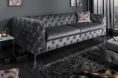 Sofa Modern Barock 240cm grau/ 38714