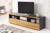 TV Lowboard Wild Oak 180cm grau Eiche/ 40060