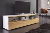 TV Lowboard Wild Oak 180cm weiss Eiche/ 40061