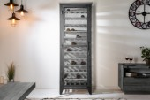 Weinschrank Bodega 184cm Pinienholz grau/ 40450
