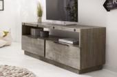 TV-Lowboard Finca 150cm Pinienholz grau/ 40447