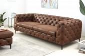 Sofa Modern Barock 240cm antik braun/ 40464
