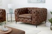 Sessel Modern Barock antik braun/ 40465