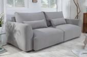 Sofa Hamptons 3er 240cm Strukturstoff hellgrau/ 40035