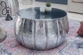 Couchtisch Marrakesch 65cm Aluminium silber/ 40215