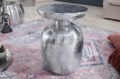 Beistelltisch Orient 36cm Aluminium silber/ 40235