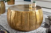 Couchtisch Marrakesch 65cm Aluminium gold/ 40217