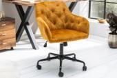 Bürostuhl Dutch Comfort senfgelb Samt/ 40303