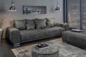 Sofa Elegancia 280cm antik grau Mikrofaser/ 40479