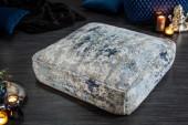 Bodenkissen Abstrakt 70cm blau beige/ 40242