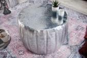 Couchtisch Marrakesch 55cm Aluminium silber/ 40218
