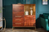 Highboard Straight 120cm Akazie natur gold/ 40290