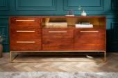 Sideboard Straight 165cm Akazie braun gold/ 40291