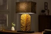 Tischleuchte Leaf 64cm Longan-Holz gold schwarz/ 40502