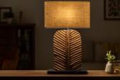 Tischleuchte Leaf 64cm Longan-Holz braun/ 40503