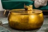 Couchtisch Orient Storage 70cm Aluminium gold/ 40231