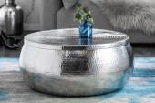 Couchtisch Orient Storage 70cm Aluminum silber/ 40232